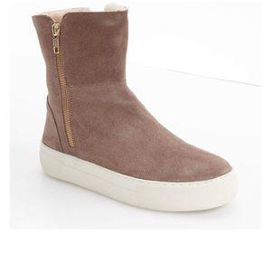 Shoes - Allie Faux Fur Lined Platform Boot - taupe, size 7